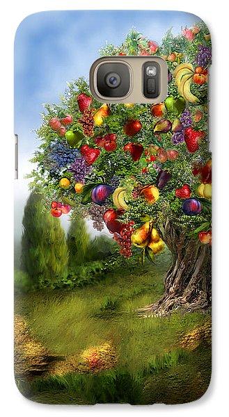 Tree Of Abundance Galaxy Case by Carol Cavalaris