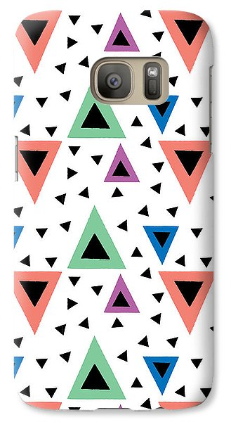 Triangular Dance Repeat Print Galaxy S7 Case by Susan Claire