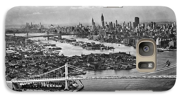 Triborough Bridge Is Completed Galaxy Case by Underwood Archives