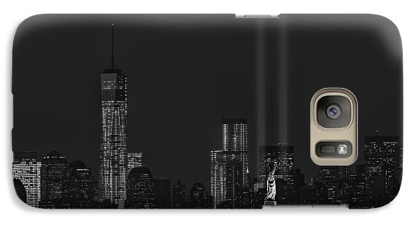 Tribute In Lights 2013 Bw Galaxy Case by Susan Candelario