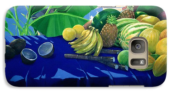 Tropical Fruit Galaxy S7 Case by Lincoln Seligman