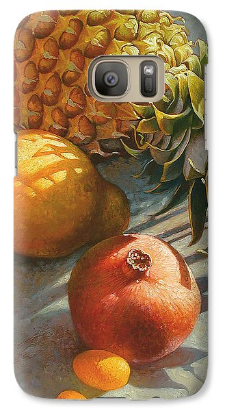 Tropical Fruit Galaxy Case by Mia Tavonatti