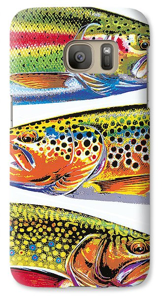 Trout Abstraction Galaxy S7 Case by JQ Licensing