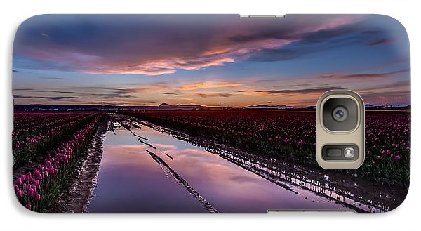 Tulips And Purple Skies Galaxy Case by Mike Reid