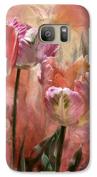 Tulips - Colors Of Love Galaxy Case by Carol Cavalaris