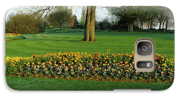 Tulips In Hyde Park, City Galaxy Case by Panoramic Images