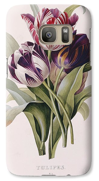 Tulips Galaxy Case by Pierre Joseph Redoute