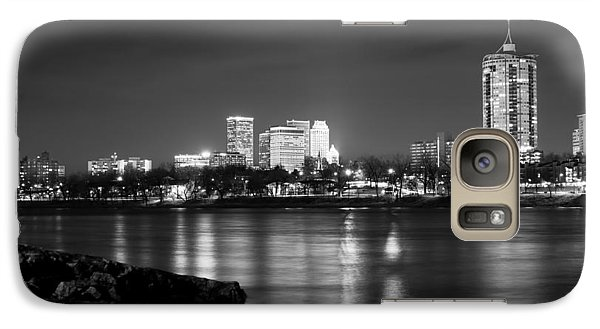 Tulsa In Black And White - University Tower View Galaxy Case by Gregory Ballos