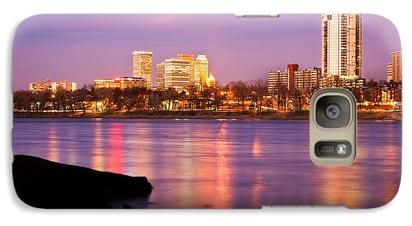 Tulsa Oklahoma - University Tower View Galaxy Case by Gregory Ballos