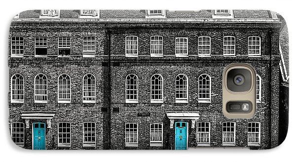 Turquoise Doors At Tower Of London's Old Hospital Block Galaxy Case by James Udall