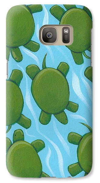 Turtle Nursery Art Galaxy S7 Case by Christy Beckwith