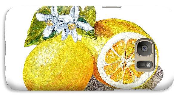 Two Happy Lemons Galaxy Case by Irina Sztukowski