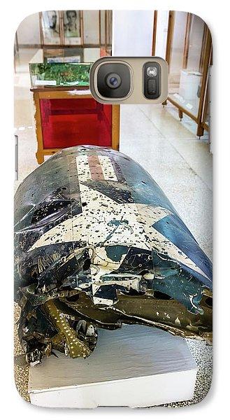 U2 Spy Plane Engine Wreck Galaxy S7 Case by Peter J. Raymond