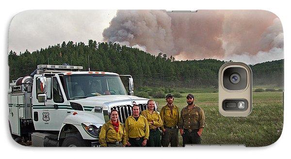 Galaxy Case featuring the photograph Umpqua Engine 25 On Myrtle Fire by Bill Gabbert