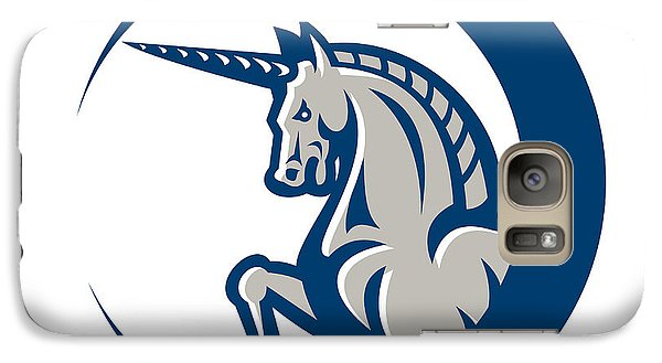 Unicorn Horse Prancing Side Galaxy Case by Aloysius Patrimonio