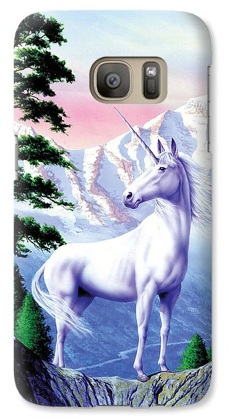 Unicorn The Land That Time Forgot Galaxy Case by Garry Walton