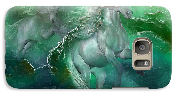 Unicorns Of The Sea Galaxy Case by Carol Cavalaris