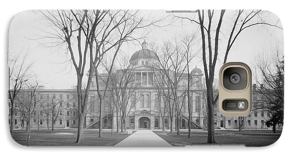 University Hall, University Of Michigan, C.1905 Bw Photo Galaxy S7 Case by Detroit Publishing Co.