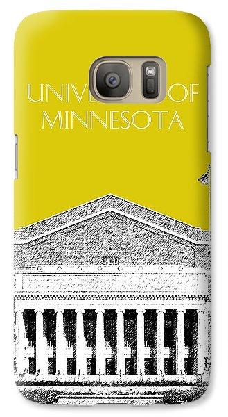 University Of Minnesota 2 - Northrop Auditorium - Mustard Yellow Galaxy S7 Case by DB Artist