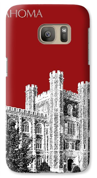 University Of Oklahoma - Dark Red Galaxy Case by DB Artist