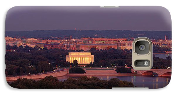 Usa, Washington Dc, Aerial, Night Galaxy S7 Case by Panoramic Images