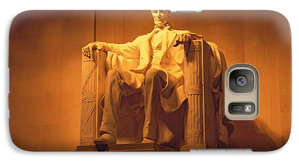 Usa, Washington Dc, Lincoln Memorial Galaxy S7 Case by Panoramic Images