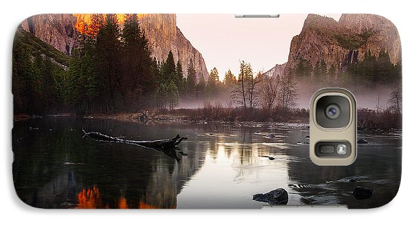 Valley View Winter Sunset Yosemite National Park Galaxy Case by Scott McGuire