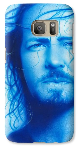 Eddie Vedder - ' Vedder ' Galaxy Case by Christian Chapman Art