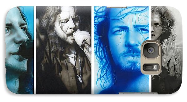 Eddie Vedder - ' Vedder Mosaic I ' Galaxy Case by Christian Chapman Art