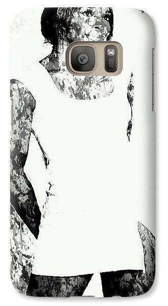 Venus Williams Paint Splatter 2c Galaxy S7 Case by Brian Reaves