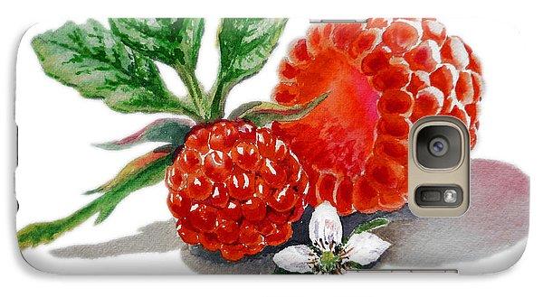 Artz Vitamins A Very Happy Raspberry Galaxy S7 Case by Irina Sztukowski