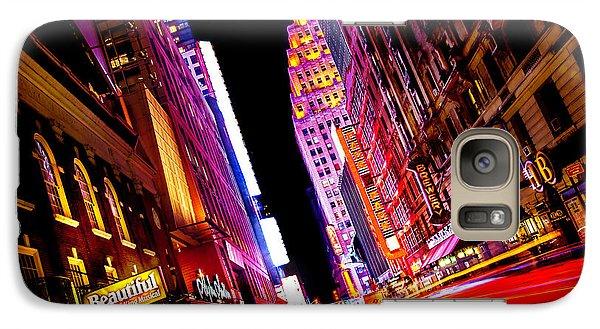 Vibrant New York City Galaxy Case by Az Jackson