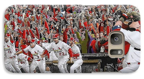 Victory - St Louis Cardinals Win The World Series Title - Friday Oct 28th 2011 Galaxy Case by Dan Haraga
