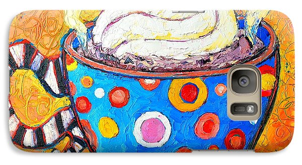 Viennese Cappuccino Whimsical Colorful Coffee Cup Galaxy Case by Ana Maria Edulescu