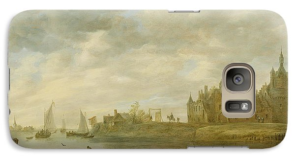 View Of The Castle Of Wijk At Duurstede Galaxy S7 Case by Jan van Goyen