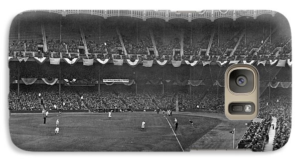 View Of Yankee Stadium Galaxy S7 Case by Underwood Archives