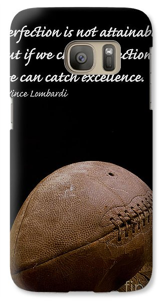 Vince Lombardi On Perfection Galaxy Case by Edward Fielding