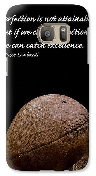 Vince Lombardi On Perfection Galaxy Case by Edward Fielding