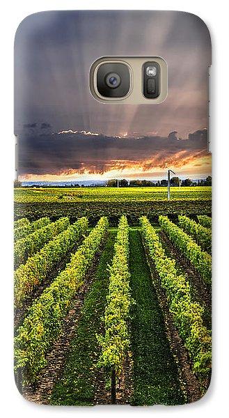 Vineyard At Sunset Galaxy Case by Elena Elisseeva