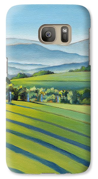 Vineyard Blue Ridge On Buck Mountain Road Virginia Galaxy S7 Case by Catherine Twomey