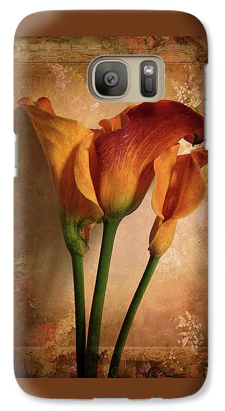 Vintage Calla Lily Galaxy Case by Jessica Jenney