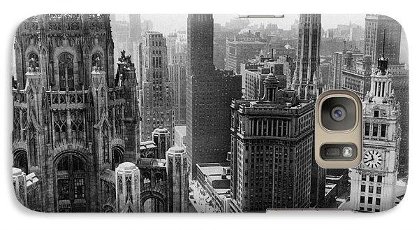 Vintage Chicago Skyline Galaxy Case by Horsch Gallery