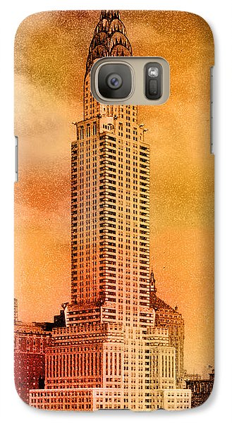 Vintage Chrysler Building Galaxy Case by Andrew Fare