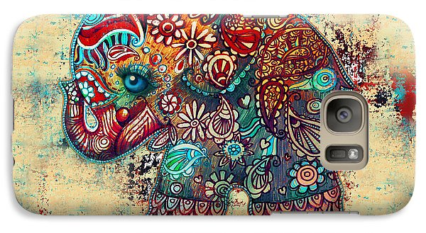 Vintage Elephant Galaxy Case by Karin Taylor