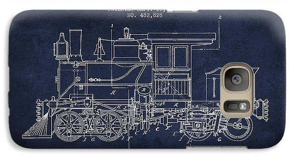 Vintage Locomotive Patent From 1892 Galaxy S7 Case by Aged Pixel