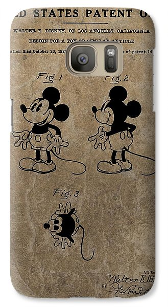 Vintage Mickey Mouse Patent Galaxy Case by Dan Sproul
