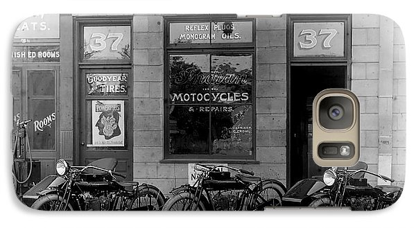 Vintage Motorcycle Dealership Galaxy S7 Case by Jon Neidert