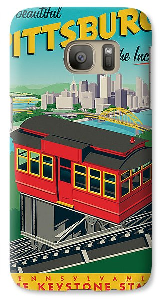 Vintage Style Pittsburgh Incline Travel Poster Galaxy S7 Case by Jim Zahniser