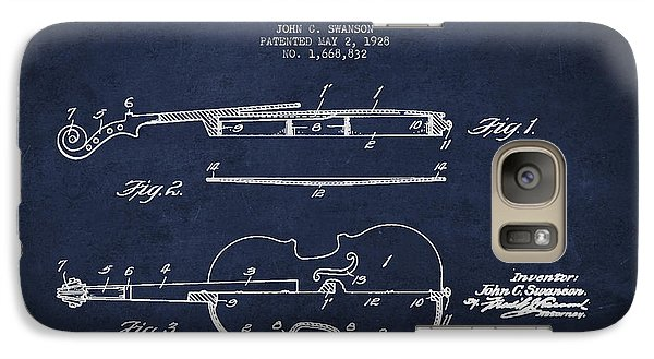 Vintage Violin Patent Drawing From 1928 Galaxy Case by Aged Pixel
