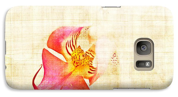 Vintage White Orchid Galaxy S7 Case by Delphimages Photo Creations